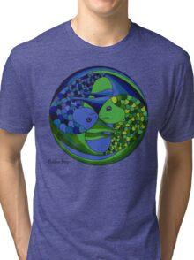 pisces yin yang Tri-blend T-Shirt