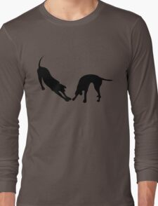 STRETCHING DOGS Long Sleeve T-Shirt