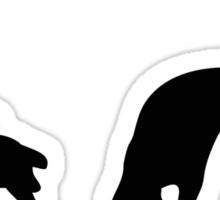 STRETCHING DOGS Sticker