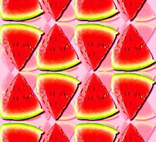 Juicy Watermelon Triangles Abstract by ELVSmith03