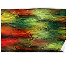 Colorful Painting Abstract Background #5 Poster