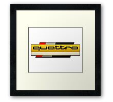 Audi Quattro Tribute Framed Print