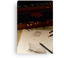 Drawing Francesca Canvas Print