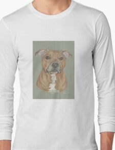 Terrier portrait in pastel Long Sleeve T-Shirt