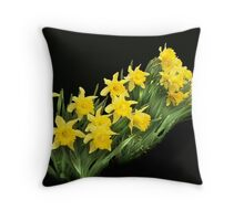 More yellow daffodills Throw Pillow