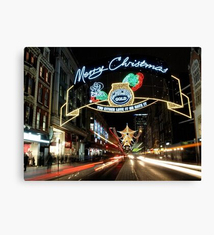 Christmas in London Canvas Print