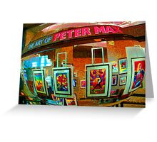 The Art of Peter Max Greeting Card