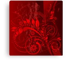 red grunge Canvas Print