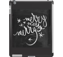 Chalkboard Winter Merry Star Holiday Design iPad Case/Skin