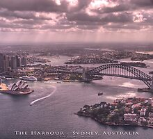Sydney Harbour from the Air - Sydney, Australia (Photo Finish) by Brian Farrell