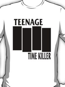 Teenage Time Killer - Black Flag Logo T-Shirt