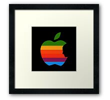 Apple retro Framed Print