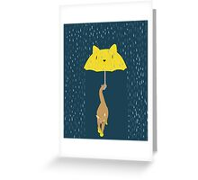 Purrrfectly Dry Greeting Card