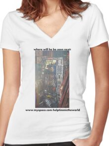 timmi out and about Women's Fitted V-Neck T-Shirt