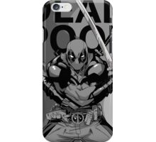 Deadpool - Pose - black and white iPhone Case/Skin