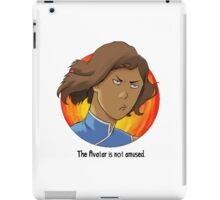 The Avatar Is Not Amused iPad Case/Skin