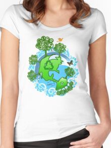 A Global Recycle Women's Fitted Scoop T-Shirt