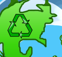 A Global Recycle Sticker