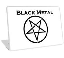 Black Metal Laptop Skin