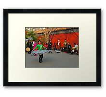 Knees up. Framed Print