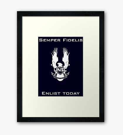 Enlist today Framed Print