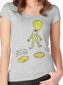 'Snotty Boy Bubbles' Women's Fitted Scoop T-Shirt