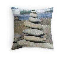 Stacked Rocks Throw Pillow