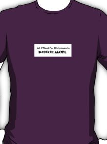 All I Want For Christmas - Depeche Mode T-Shirt