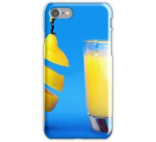 Underwater Diving On A Floating Orange iPhone Case/Skin