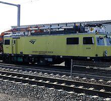 Amtrak Catenary Maintenance  Vehicle by Jack McCabe