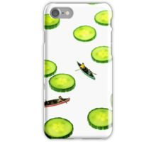 Boating Among Cucumber Slices iPhone Case/Skin
