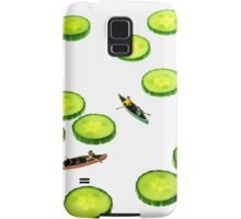 Boating Among Cucumber Slices Samsung Galaxy Case/Skin