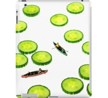 Boating Among Cucumber Slices iPad Case/Skin