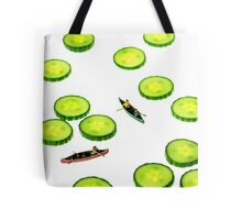 Boating Among Cucumber Slices Tote Bag