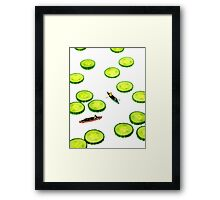 Boating Among Cucumber Slices Framed Print