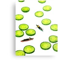 Boating Among Cucumber Slices Metal Print