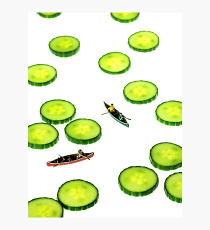 Boating Among Cucumber Slices Photographic Print