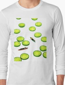 Boating Among Cucumber Slices Long Sleeve T-Shirt