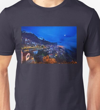 Night falling in Arachova & Parnassos mountain Unisex T-Shirt