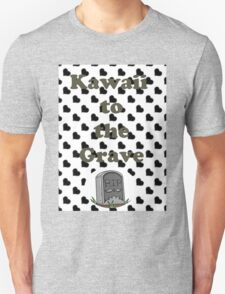 Kawaii to the Grave Grayscale. Unisex T-Shirt