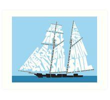 Tops'l Schooner Sail/Spar Plan Art Print
