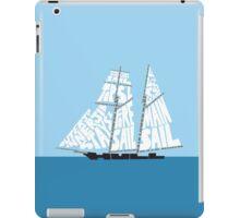 Tops'l Schooner Sail/Spar Plan iPad Case/Skin