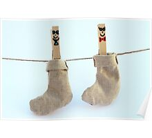 Socks hanging Poster