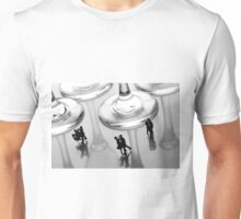 Dancing Among Glass Cups Unisex T-Shirt
