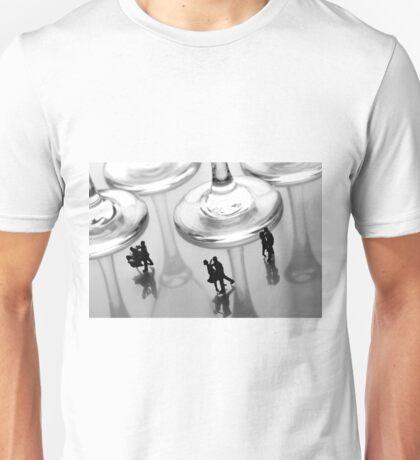Dancing Among Glass Cups Unisex T-Shirt