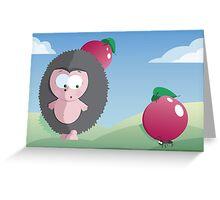 Surprised hedgehog Greeting Card