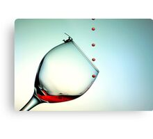 Fishing On A Glass Cup With Red Wine Droplets Metal Print