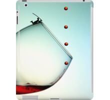 Fishing On A Glass Cup With Red Wine Droplets iPad Case/Skin