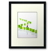 Walking On Celery Framed Print