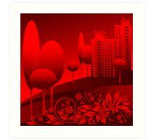 red urban Art Print